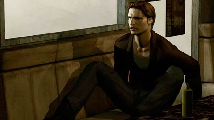 Silent Hill. Harry Mason waking up in cafe.